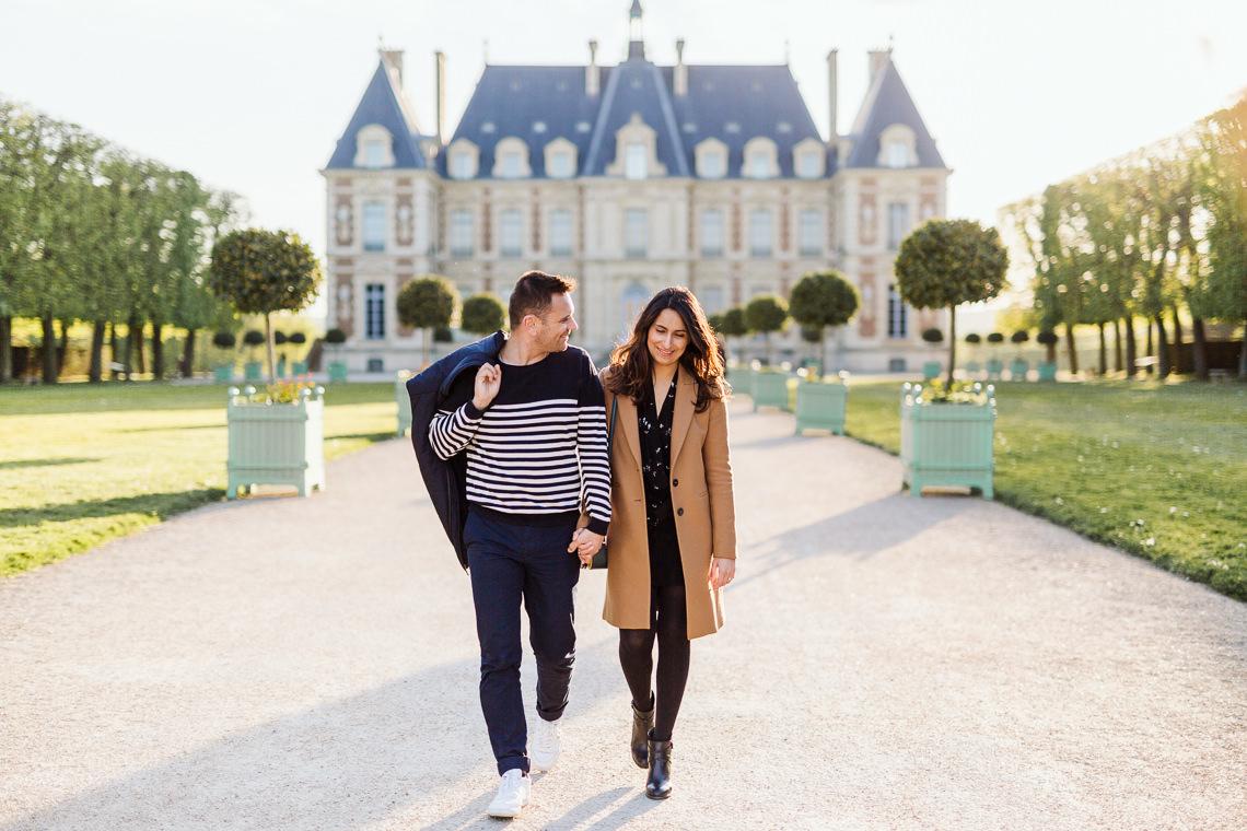 chateau du parc de sceaux couple axiane photographe