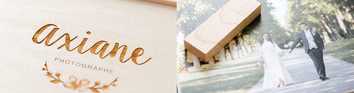 packaging photographe mariage coffret usb tirages