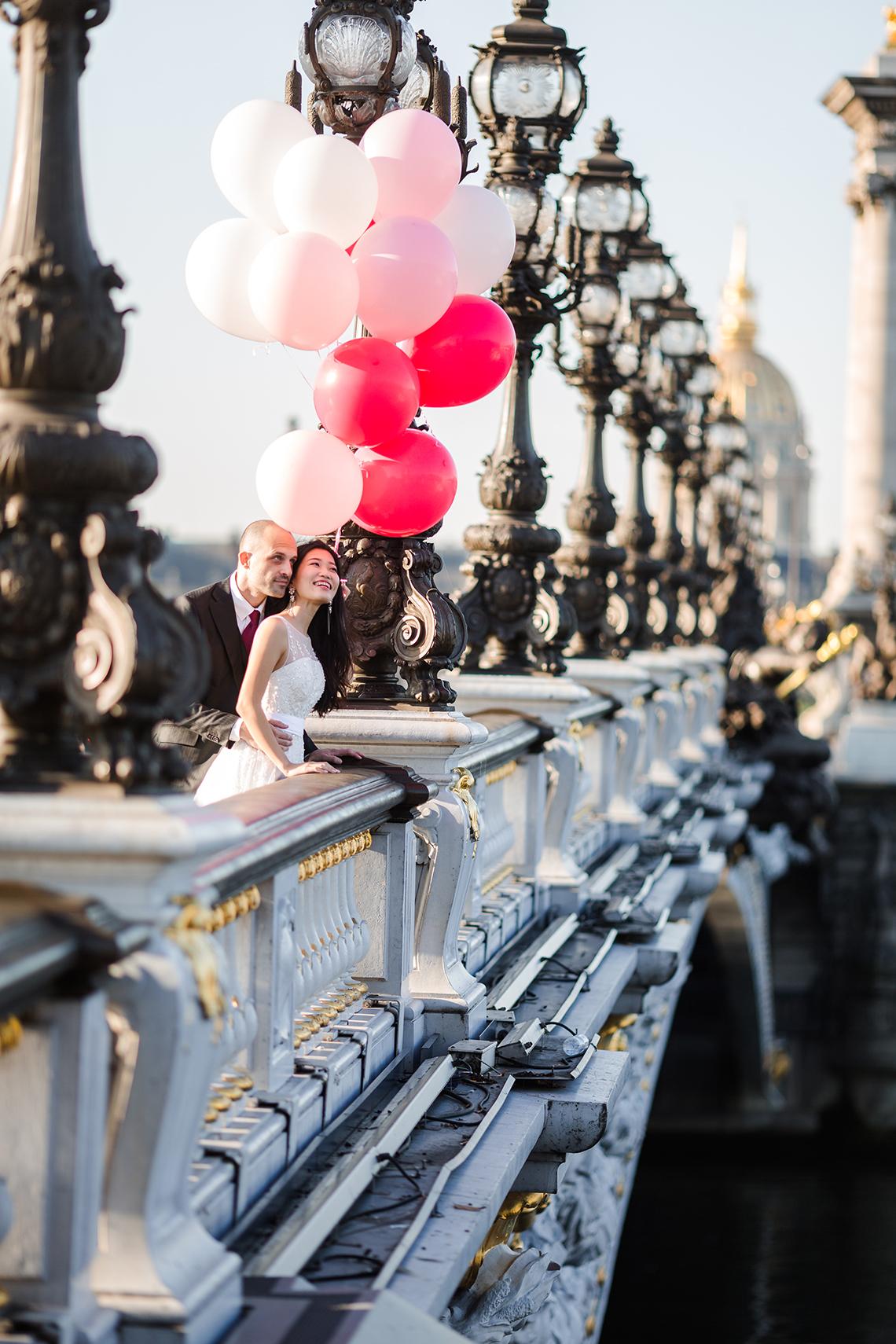photographe mariage seance engagement paris ballon pont alexandre iii