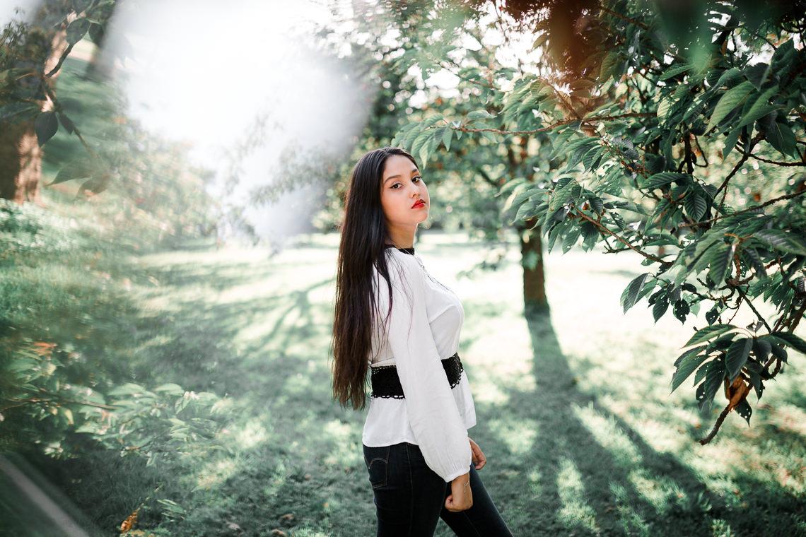 photographe parc paris portrait femme