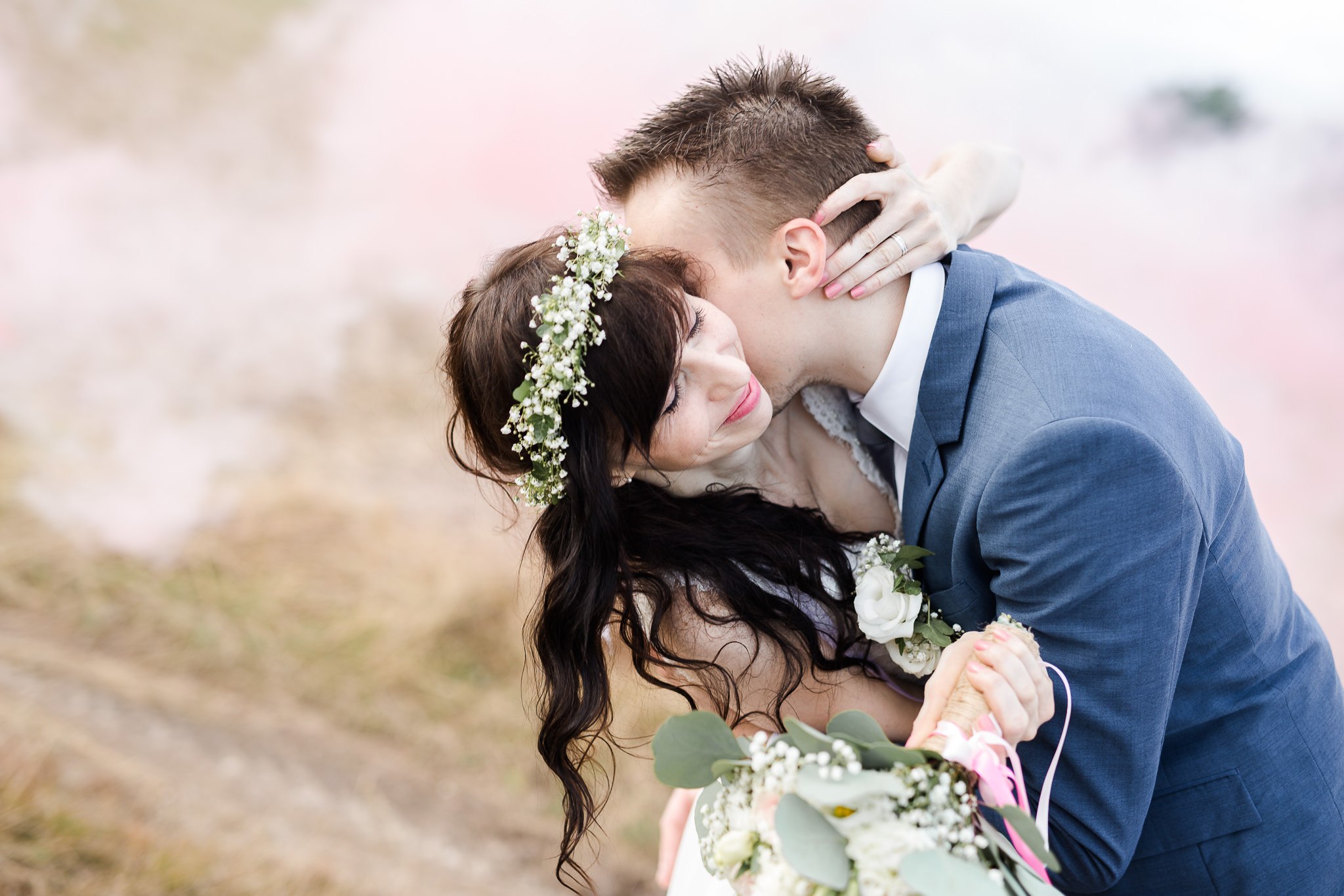 mariage champetre fumigene dammaries les lys