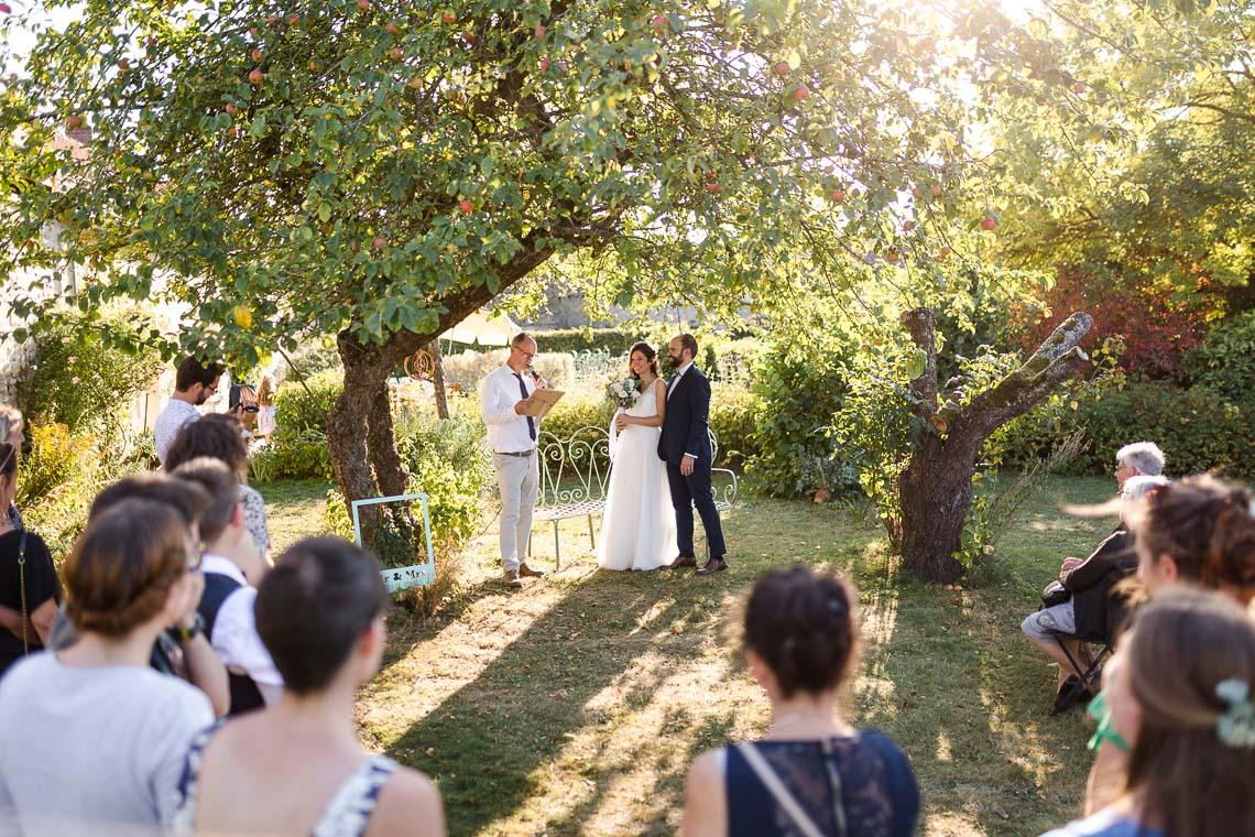 photo de mariage cérémonie extérieur
