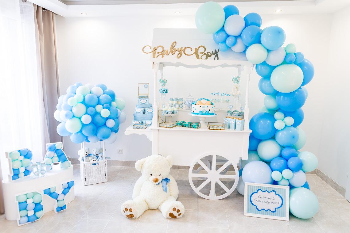 babyshower thème bleu garçon