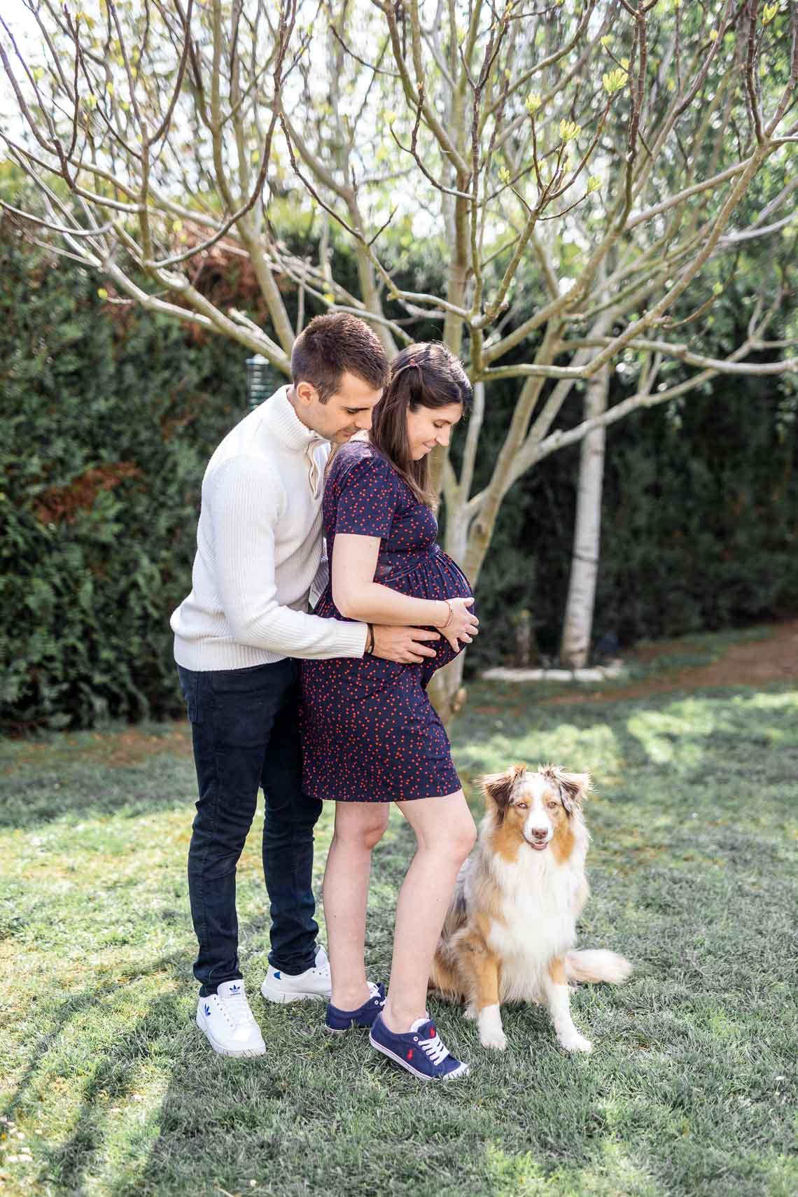 photos de grossesse avec le chien