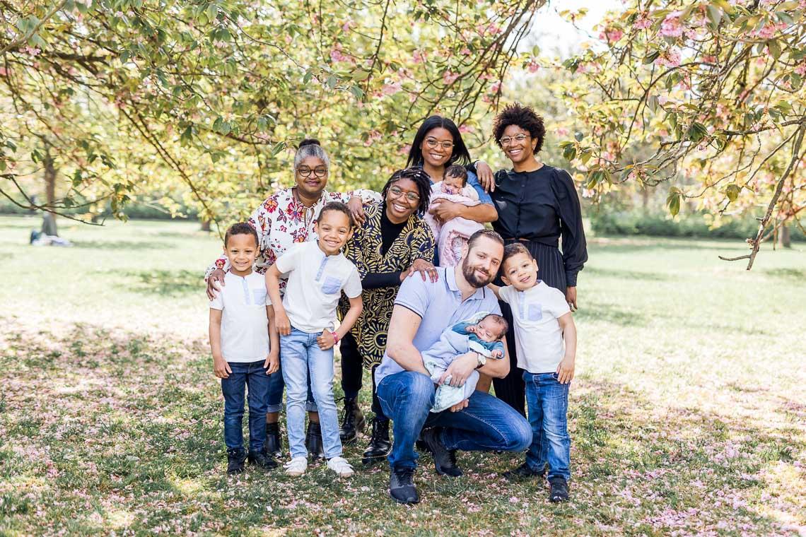 Photos de famille intergénérationnel