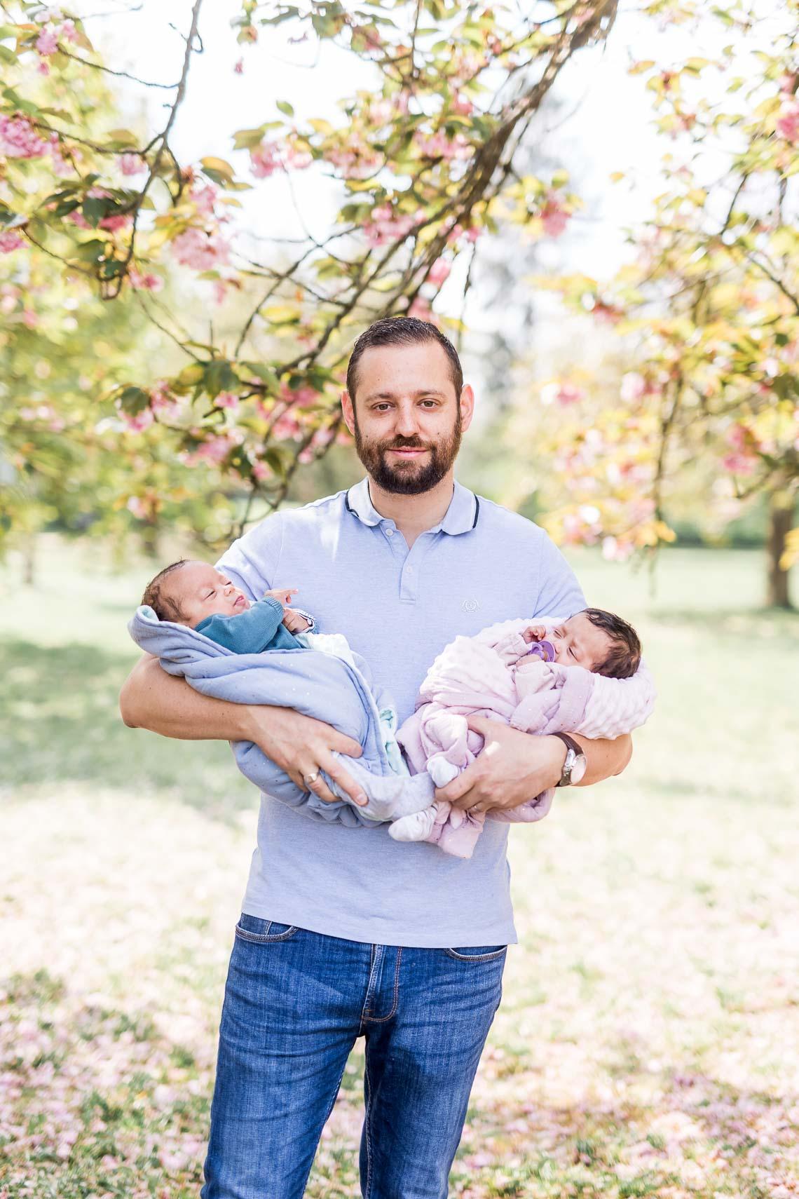 papa et bébés